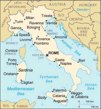 Simple Map Of Italy.Visit Italy