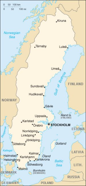 STUDENT HOLIDAYS IN SWEDEN - Sweden map mountains
